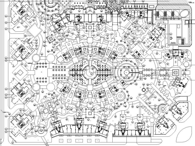 [广东]某蔚蓝海岸(组团)景观规划扩初图全套施工图(包含+70个CAD)