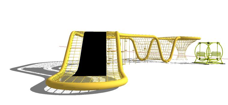 [景观小品]儿童游乐设施-攀爬网.skp