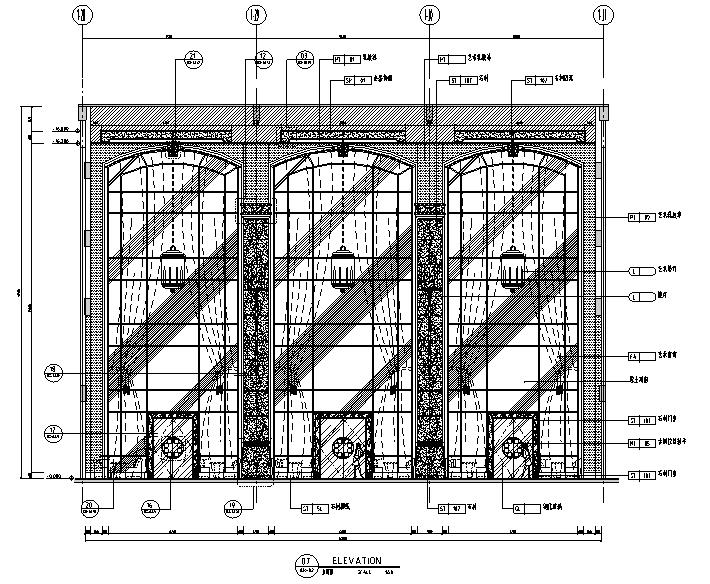 [广东]高档奢华现代酒店设计施工图(附效果图+材料表)