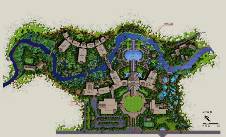 云南西山版纳酒店建筑设计