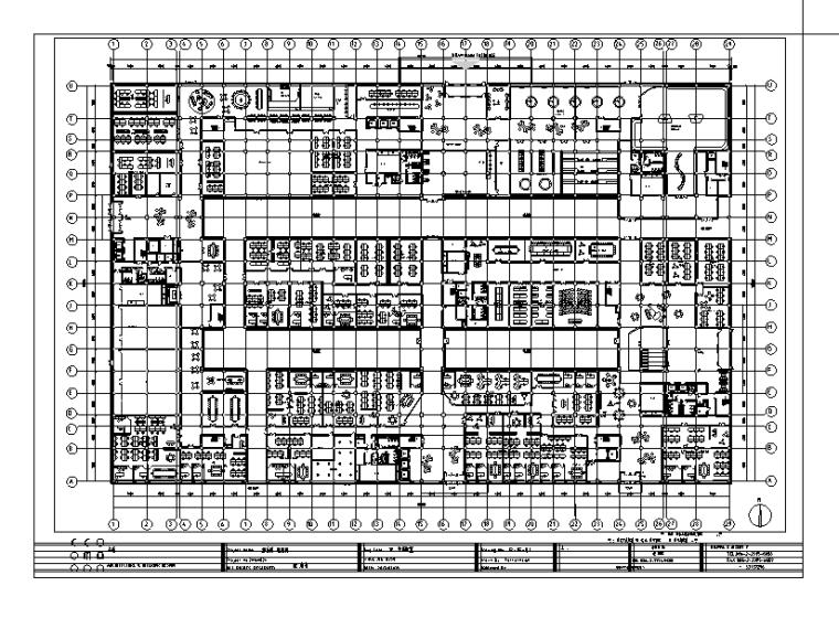 [山东]全套详细办公楼设计施工图(含效果图)
