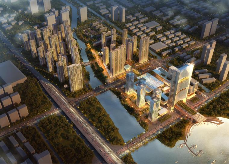 [浙江]保利台州椒江商业综合体项目建筑模型设计(方案二)