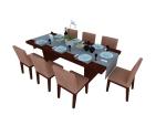 多人餐桌椅3D模型下载