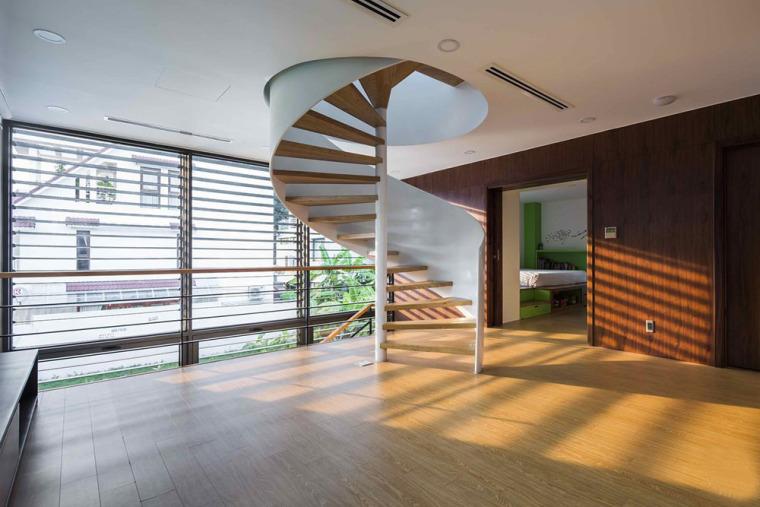 越南胡志明白色方块住宅-13