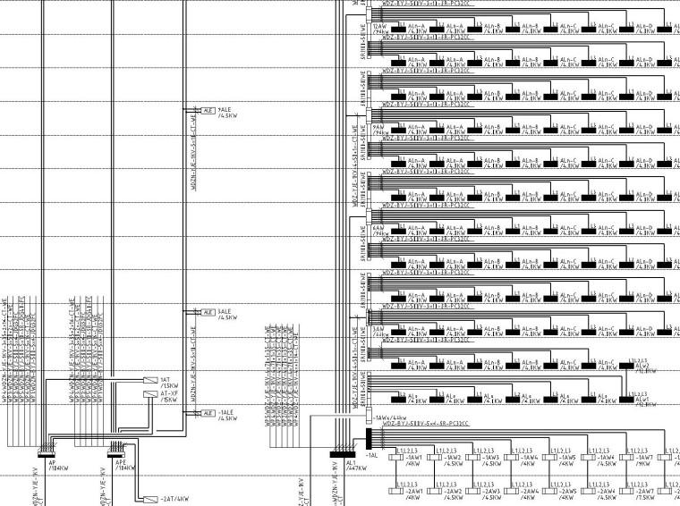 知名房产小区一类高层住宅楼全套电气施工图纸(机房工程)