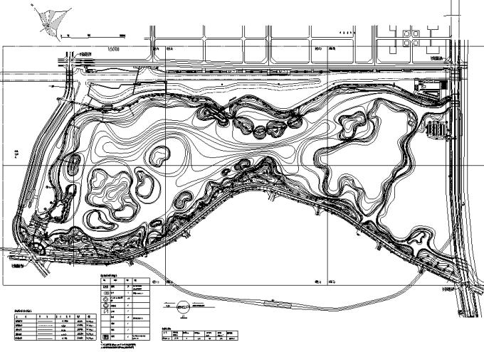 [广东]岭南文化滨湖生态湿地公园景观设计施工图