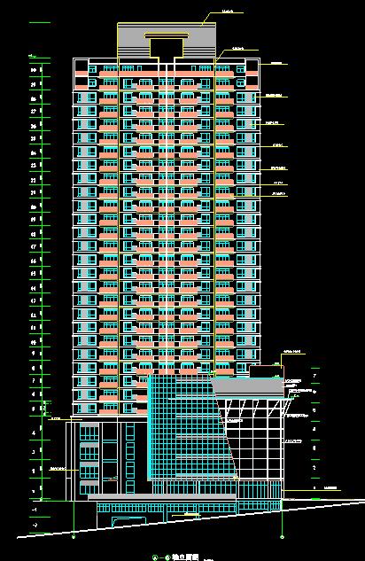 32层高层住宅建筑