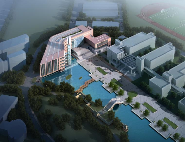 [浙江]湖州广播电视大学图书馆建筑设计方案文本+CAD+SU模型+PS