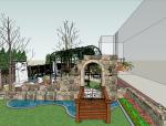 精致庭院景观SU模型设计方案