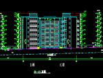 沿街多层商住楼立面方案扩初图