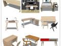 19套北欧风格SU模型[办公桌]