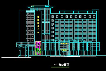 九层综合楼平立剖图