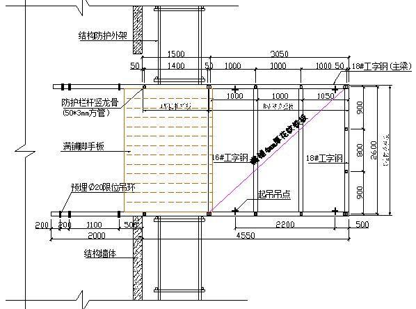 悬挑式卸料平台制作施工技术交底,详细做法示意图!