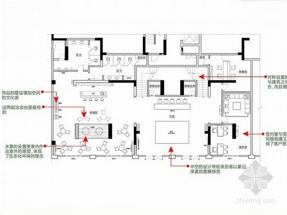 [广州]某现代售楼部装修室内设计方案