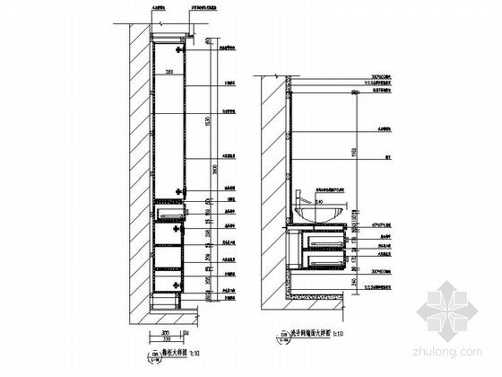 [昆明]新中式复式楼装修设计施工图(含效果)-详图