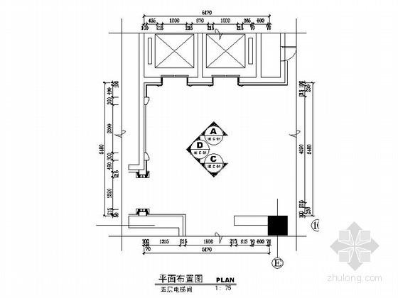 [山东]某奢华大酒店五层电梯间施工图