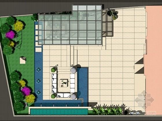 住宅屋顶花园景观概念设计方案