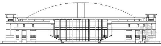 某中学学校体育馆建筑施工图
