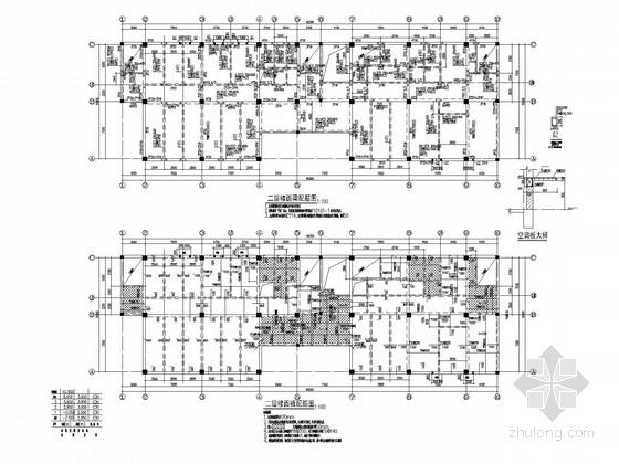 三层框架研发楼结构施工图(条基)