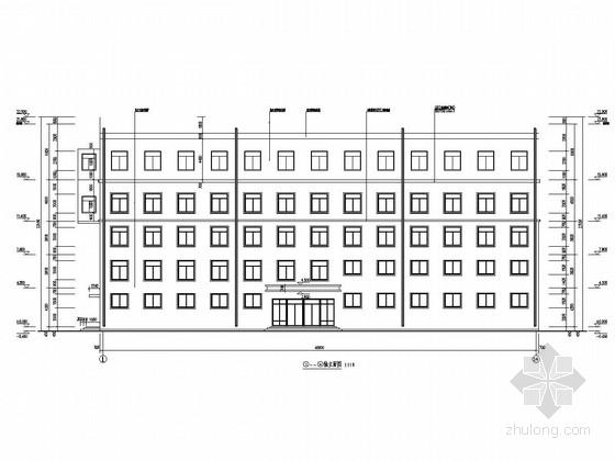 [山西]四层框架结构综合楼加建一层门刚结构加层结构施工图(含建筑图)