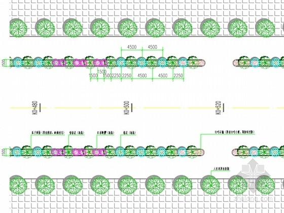 [安徽]城市道路绿化提升工程施工图设计42张