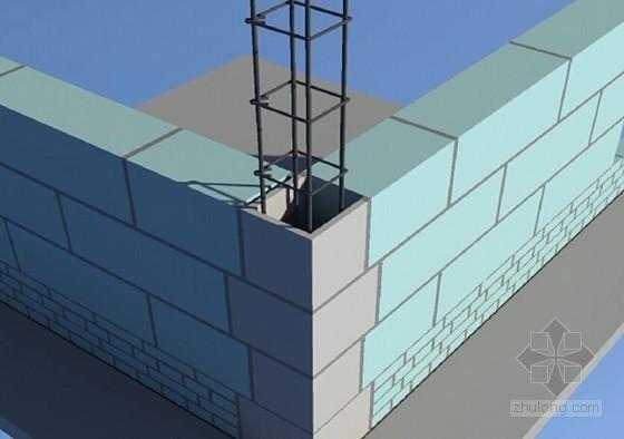 二次结构构造柱免支模及砌体免开槽施工工艺(附图)