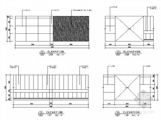 [上海]开发新区现代陈列馆室内装饰设计施工图立面图