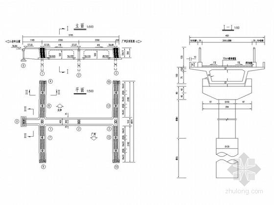 2x22m预应力砼吊装箱梁人形天桥设计图(35张)