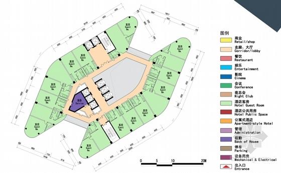 中央商务区超高层商业综合体建筑平面图图片