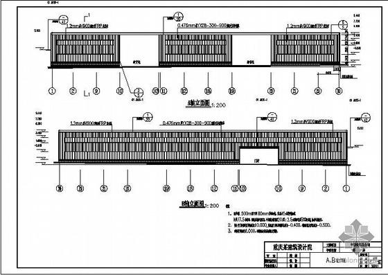 中国铁路某公司新建库房结构图
