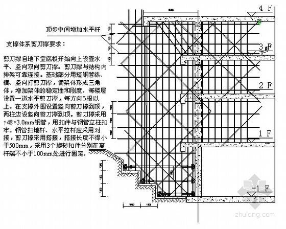 [江苏]框剪结构大厦局部高架支模安全专项施工方案