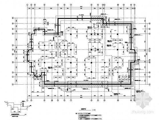 [武汉]两层框架结构会所结构施工图(坡屋顶)