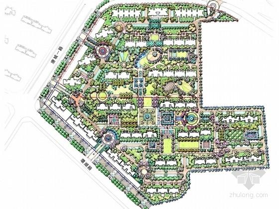 [西安]欧式风格自然景观居住区的景观设计方案2套