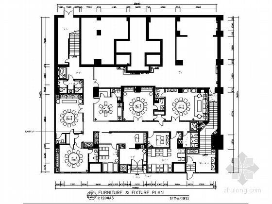 [新疆]1200㎡现代风格会所室内装修施工图(含实景图)