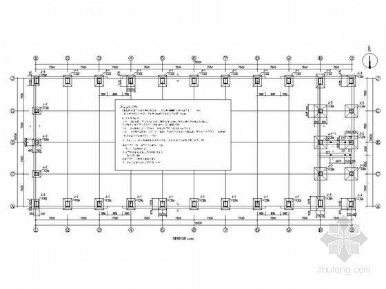 [天津]单层门式刚架结构厂房结构施工图