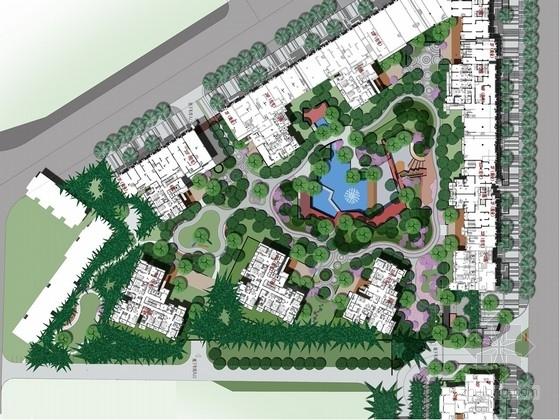 [云南]城市住宅区庭院园林景观环境设计方案