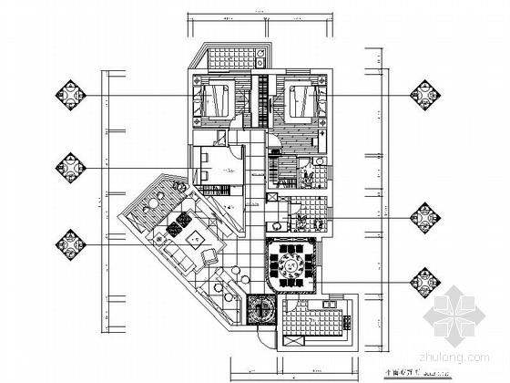高档中式精装三室两厅家居装修施工图