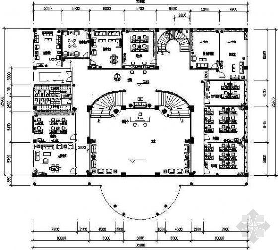 某四层办公楼CAD装修图
