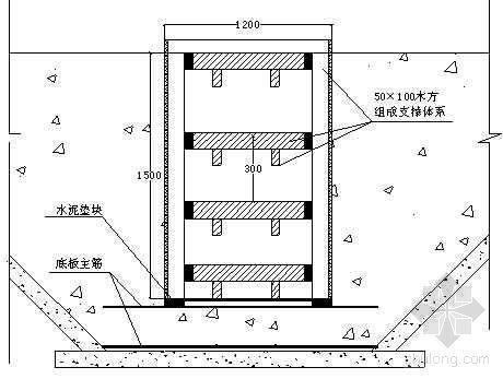 集水井模板支设详图