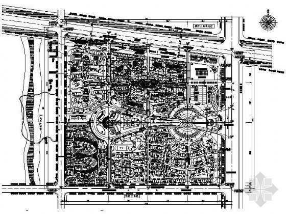 滨州现代城规划设计平面图