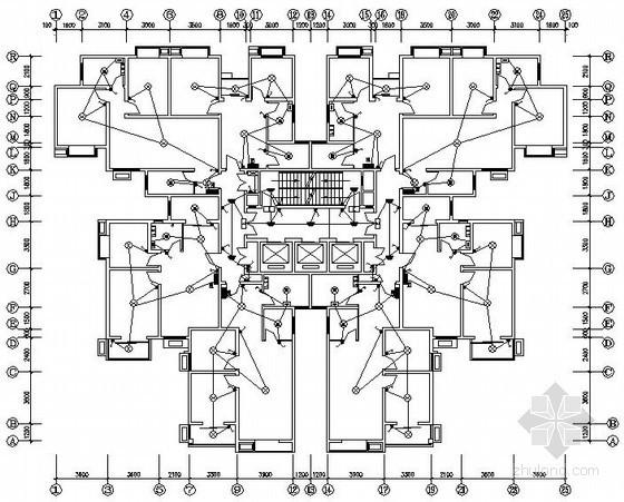 二十六层二类高层住宅电气施工图纸