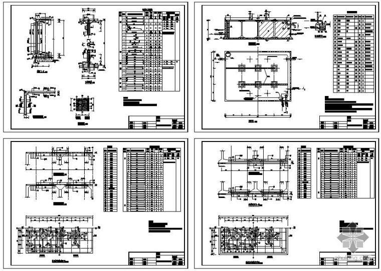 某600立方矩形蓄水池结构设计图