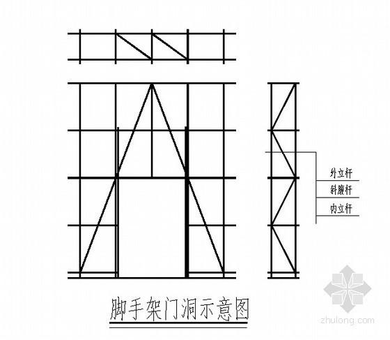 [山东]住宅楼落地式、悬挑式脚手架施工方案(卸料平台)