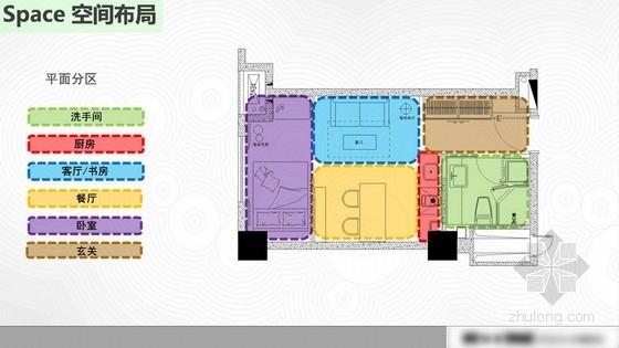 [上海]某现代风格SOHO室内软装设计方案图