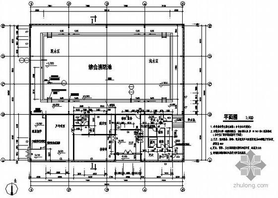 [广东]某综合消防池建筑结构施工图-2