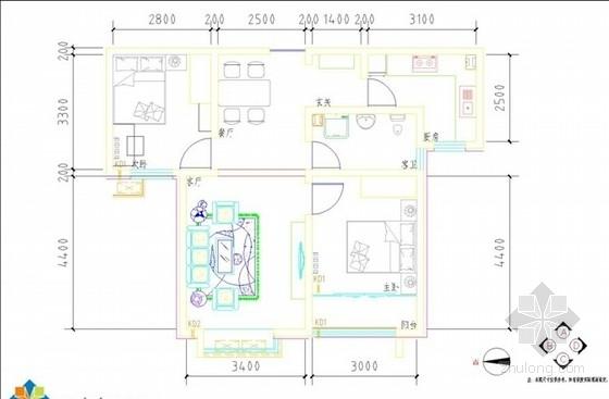 [北京]83平东城区某高档公寓室内装修方案(含效果)