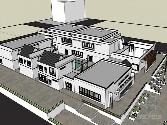 博物馆规划SketchUp模型下载