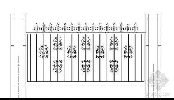 铁艺围墙单元立面图