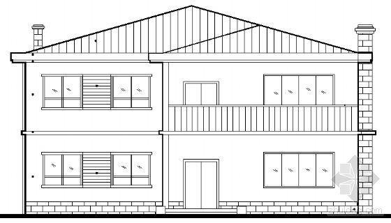 某二层小别墅建筑方案图