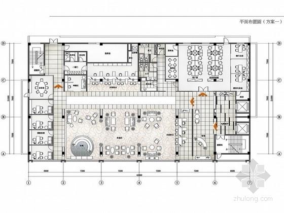 [深圳]地方性金融机构支行现代贵宾俱乐部设计方案图